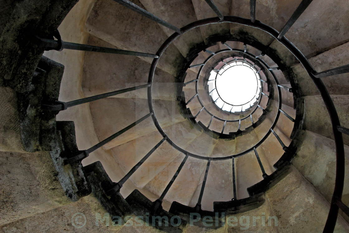 """""""Old spiral staircase"""" stock image"""