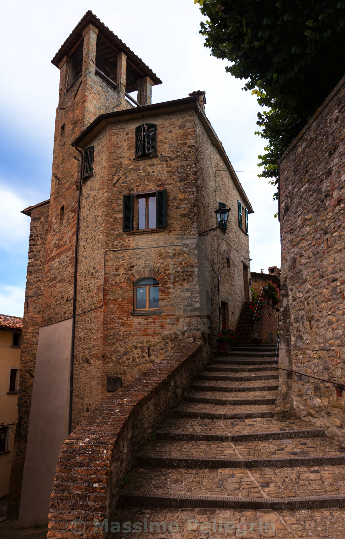 """""""A delicious glimpse of Montone, medieval italian town"""" stock image"""