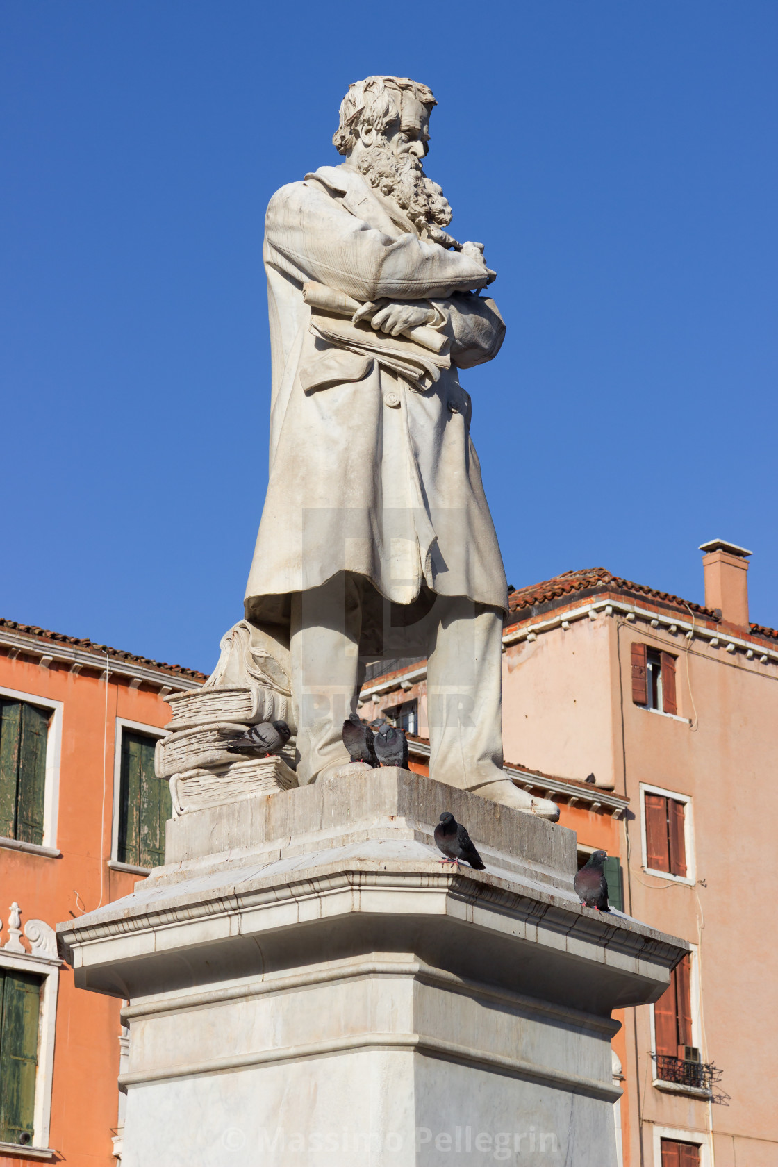 """Statue of Niccolo' Tommaseo, famous italian linguist, journalist and essayist"" stock image"