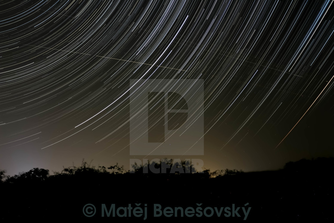 """Startrails"" stock image"