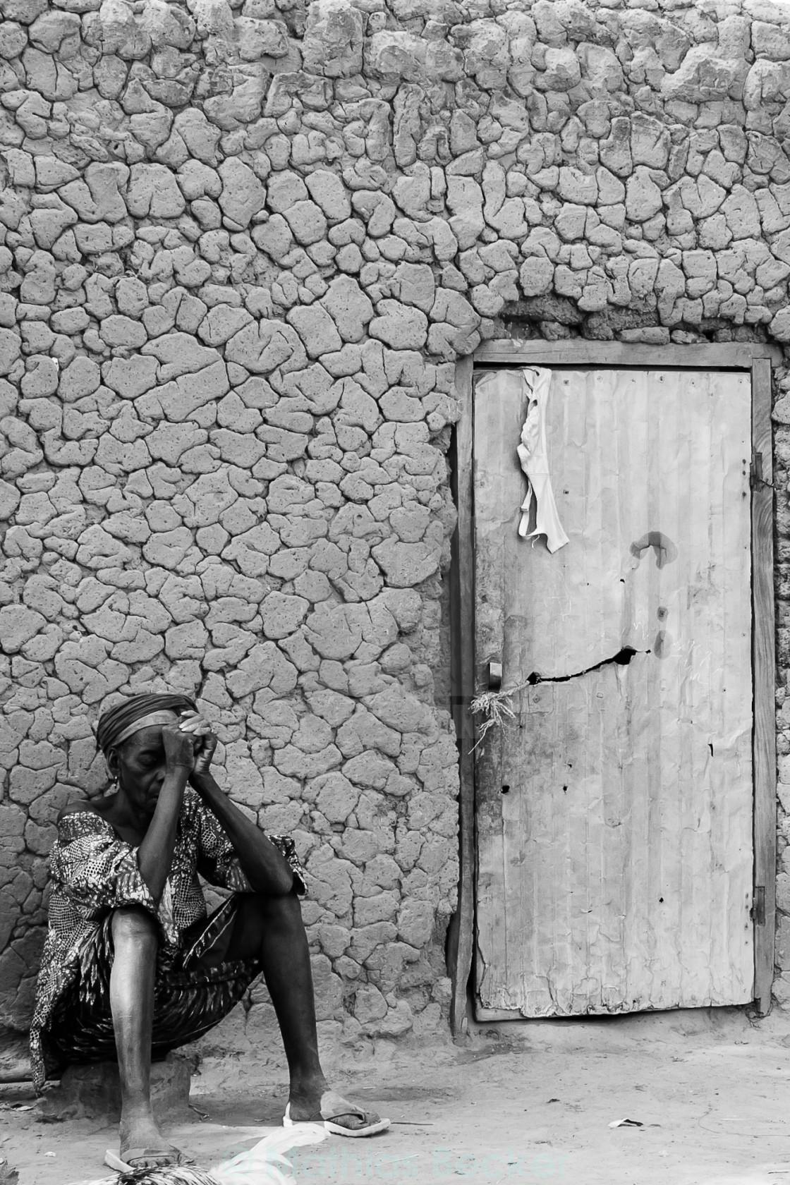 """On the doorstep"" stock image"