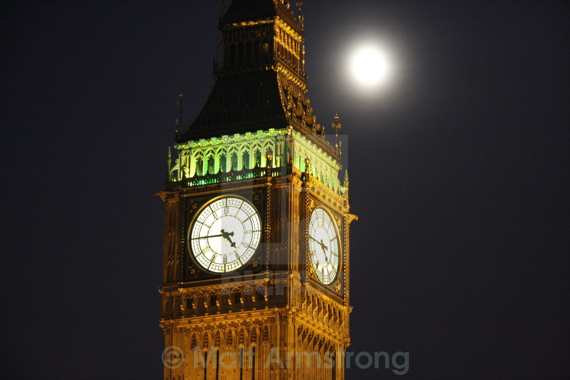 """""""Big Ben and the Moon"""" stock image"""