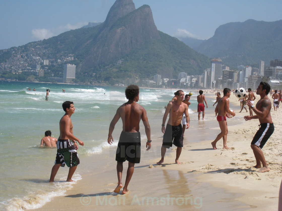 """""""On The Beach In Rio"""" stock image"""