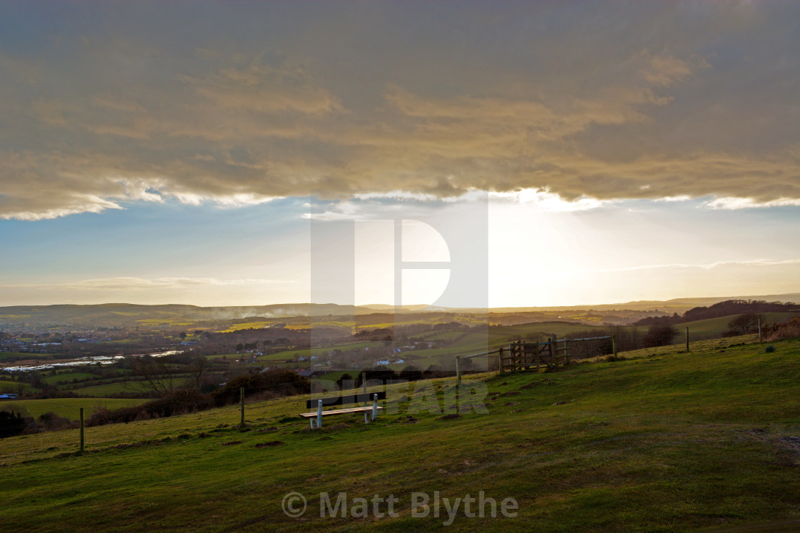 """Cloud Bank Over View Point"" stock image"