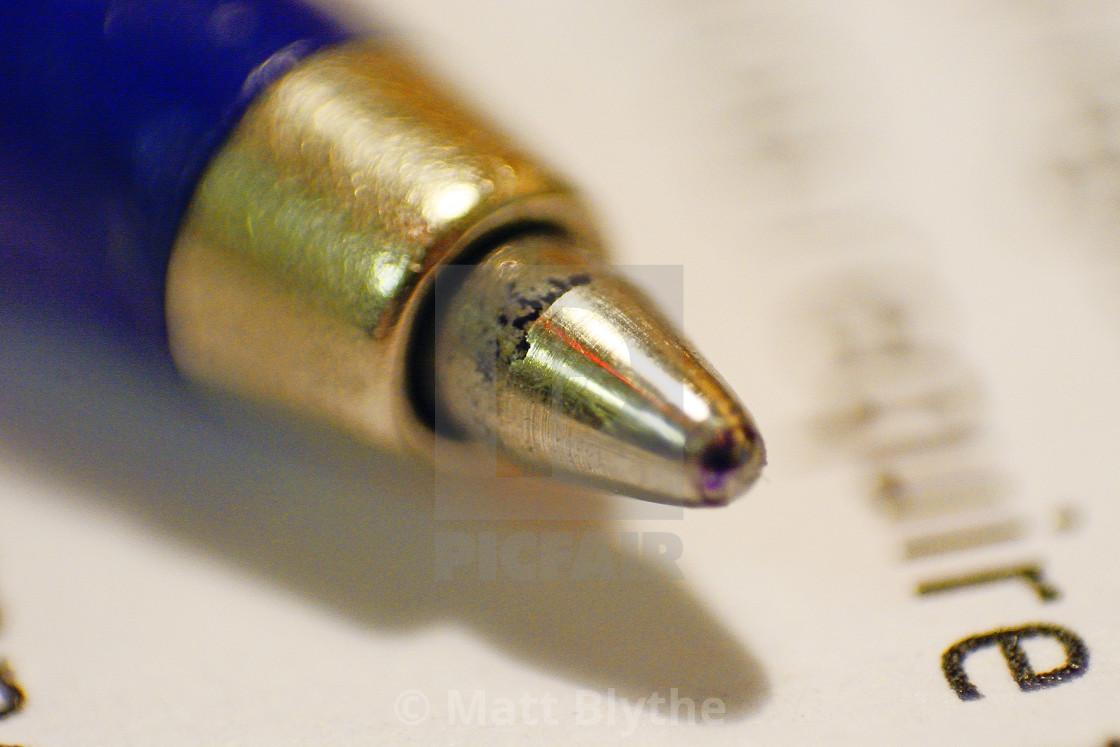 """Ball Point Pen Tip - Super Macro"" stock image"