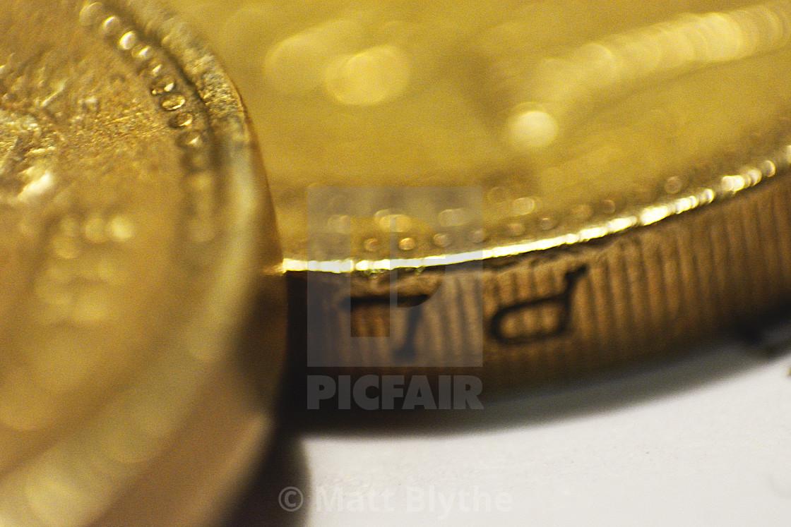 """British One Pound Coin - Super Macro"" stock image"
