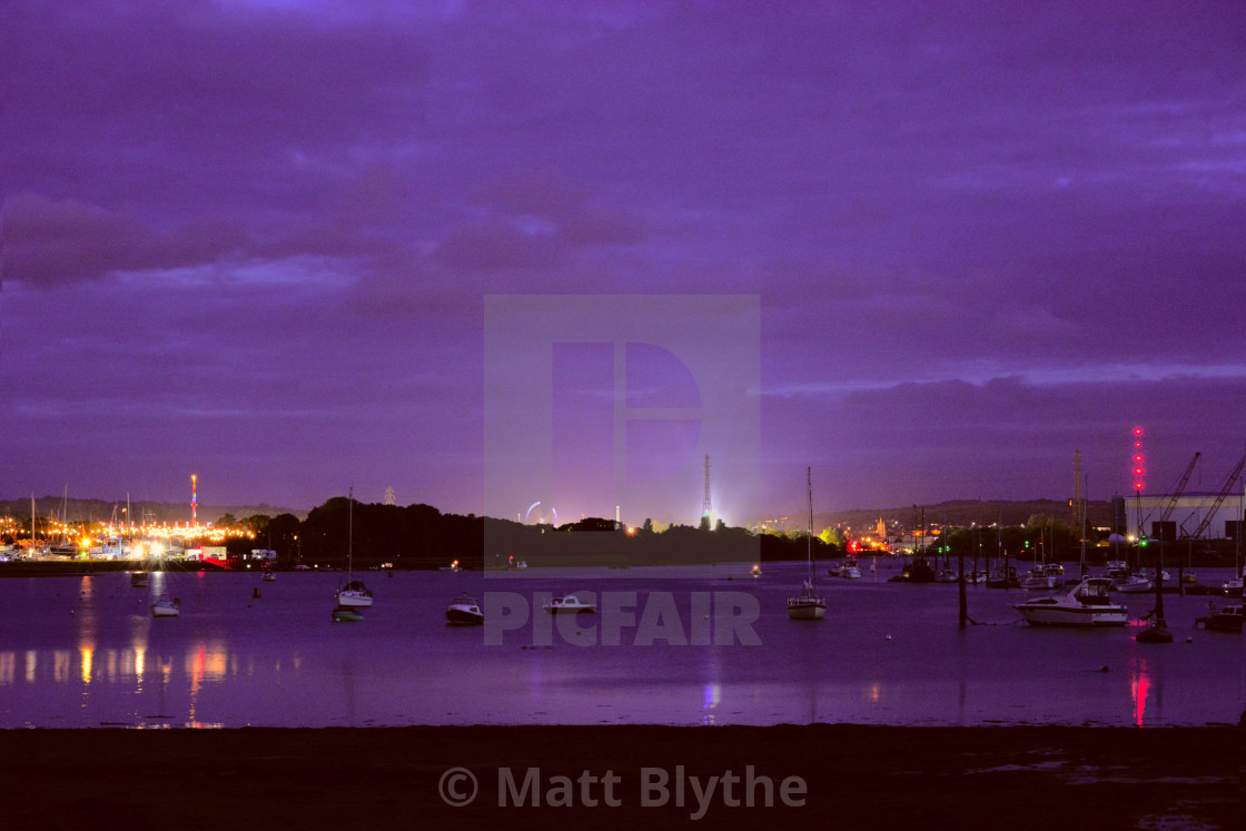"""Isle of Wight Festival at Blue Hour"" stock image"