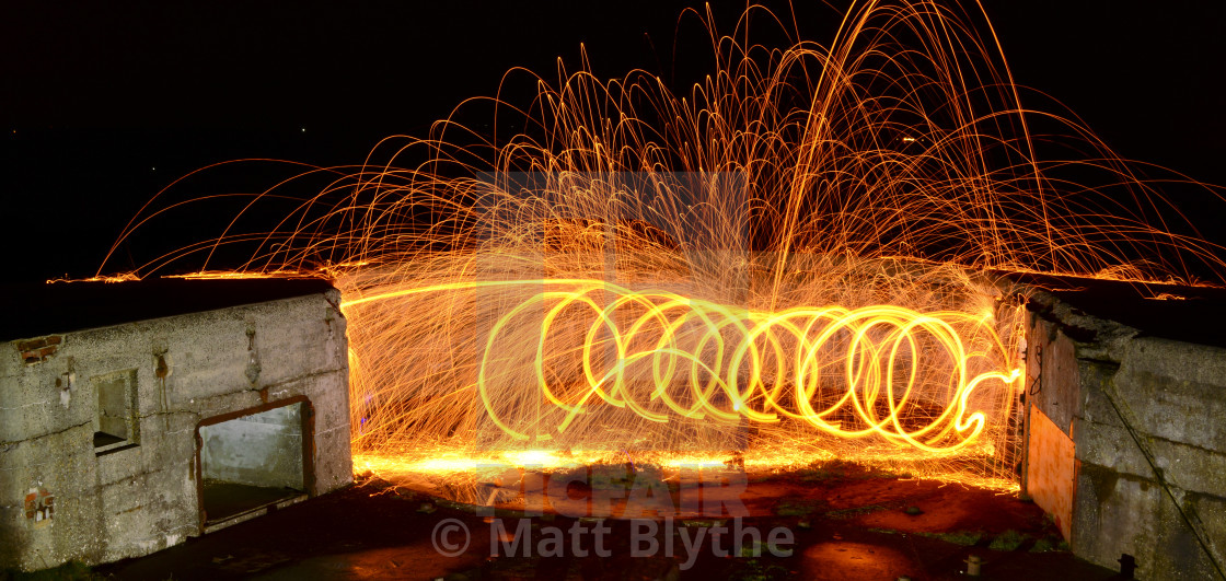 """""""Filament of Light Trails"""" stock image"""