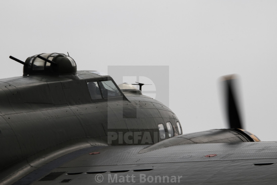 """B-17 at Duxford"" stock image"