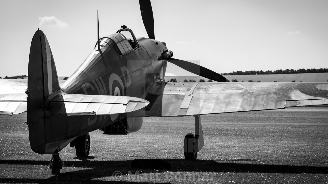 """Hawker Hurricane - Mono"" stock image"