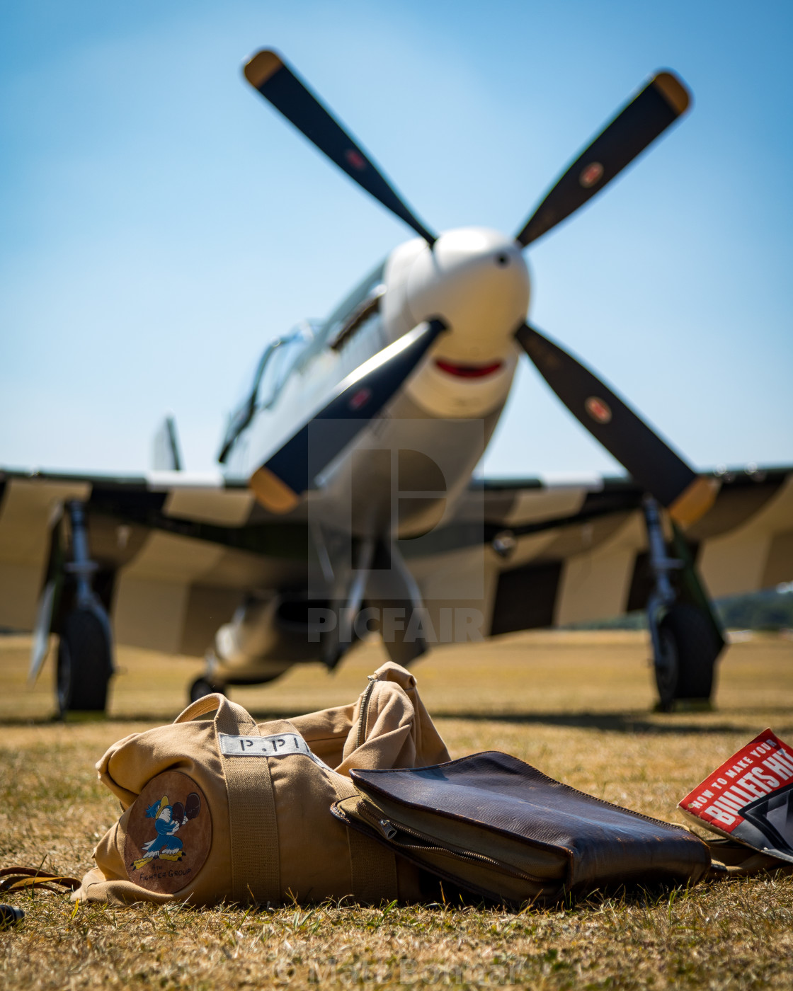 """P-51D Mustang"" stock image"