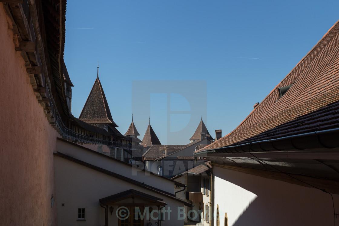 """Medeval Rooftops"" stock image"