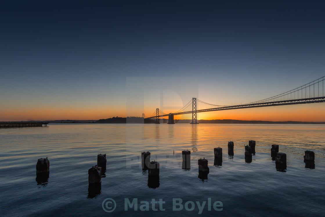"""San Francisco Bay Bridge"" stock image"