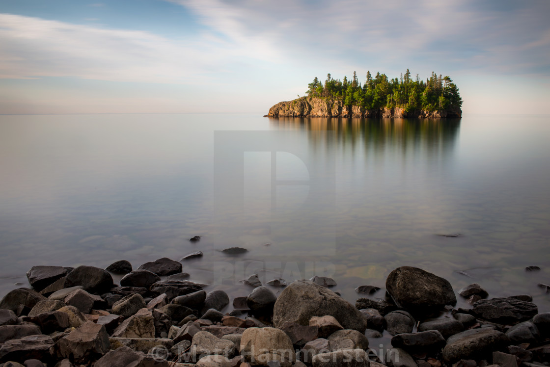 """Lake Superior Serenity"" stock image"