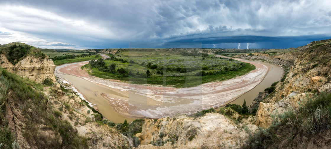 Thunderstorm Over the Little Missouri - License, download or print