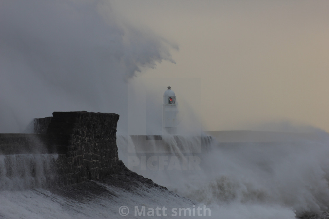 """""""Wales storm"""" stock image"""