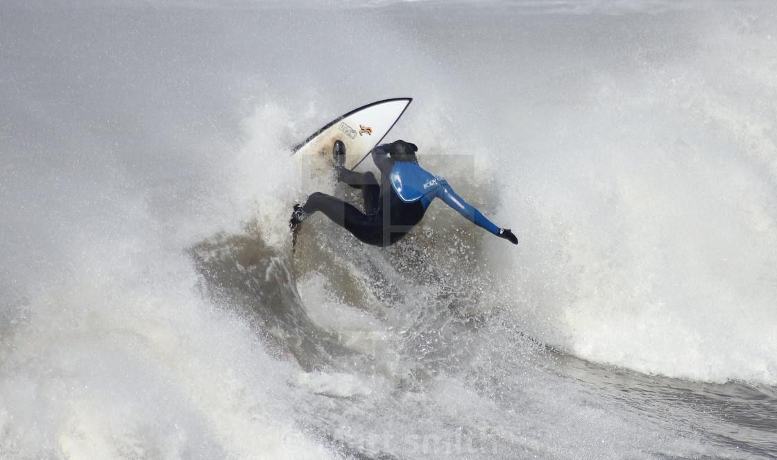 """""""Welsh surfer"""" stock image"""