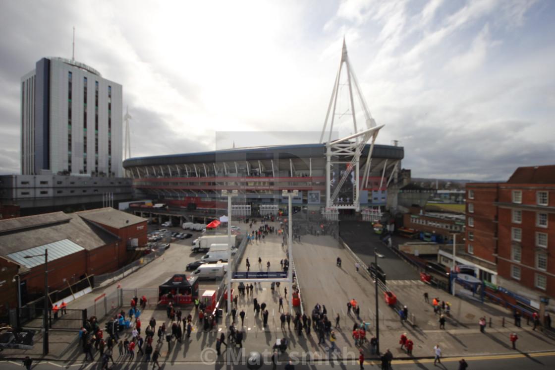 """""""Millennium stadium"""" stock image"""