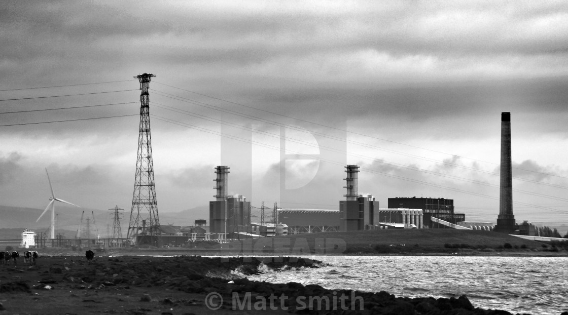 """Uskmouth power station"" stock image"