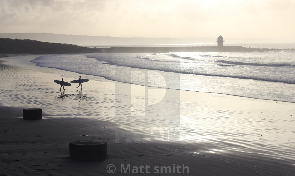 """""""Surf Wales"""" stock image"""