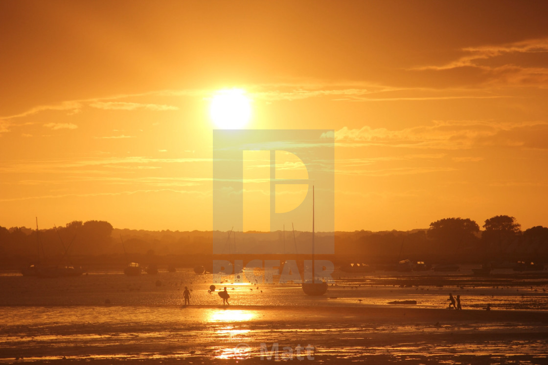 """Dorset sunset"" stock image"
