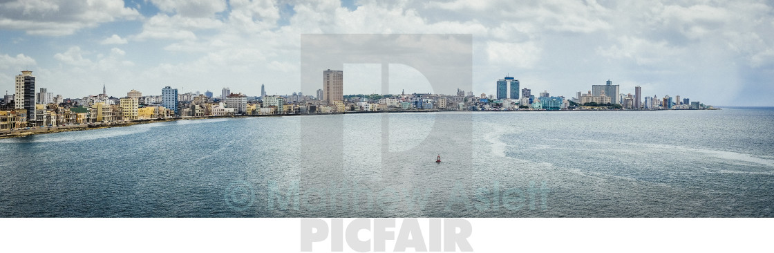 """""""The Malecon and Havana"""" stock image"""