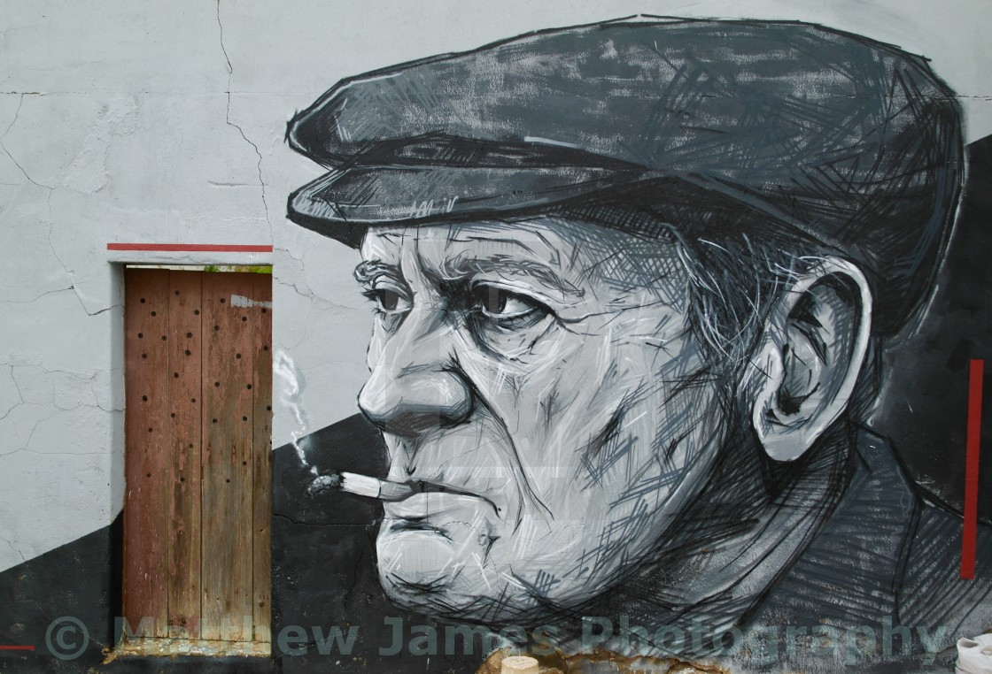 """""""The old fisherman"""" stock image"""