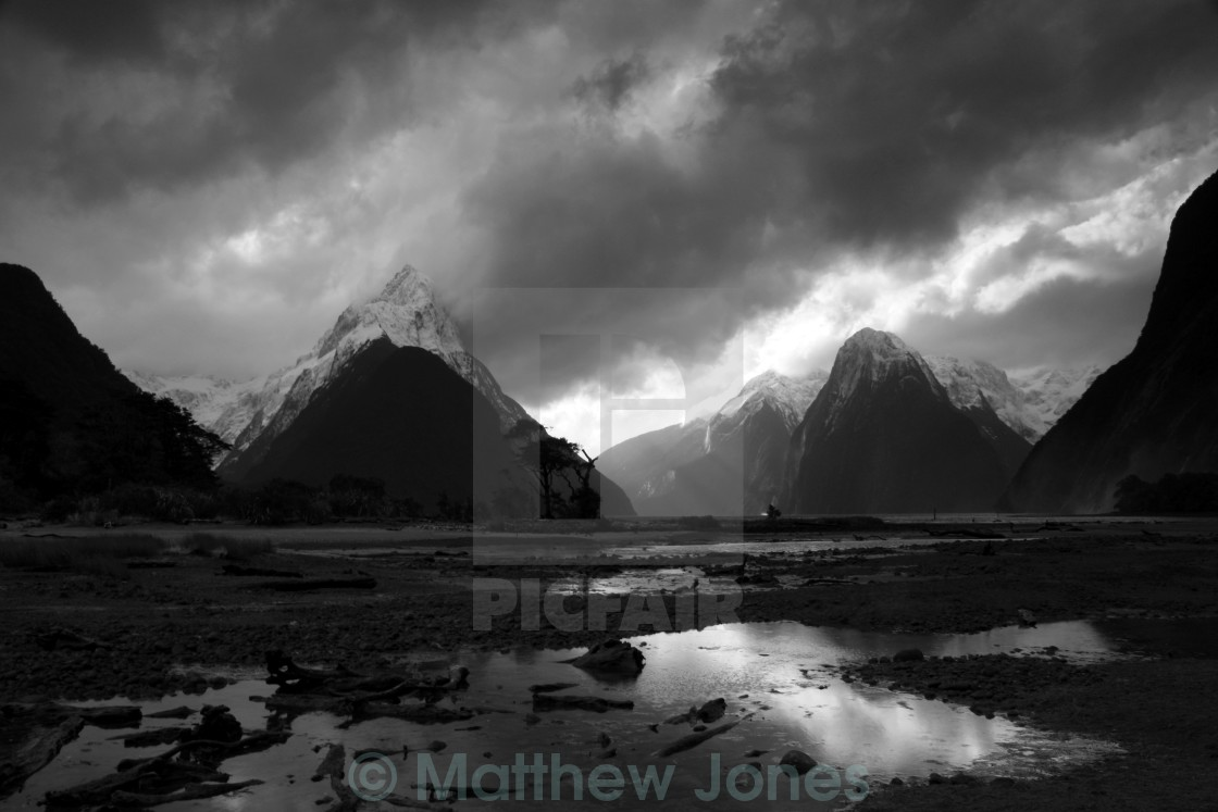 """Storm at Milford"" stock image"