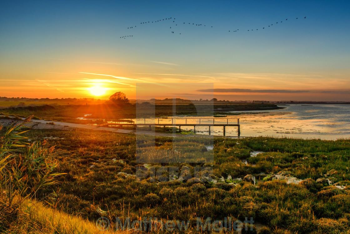 """Sunset at Kirby Le Soken"" stock image"