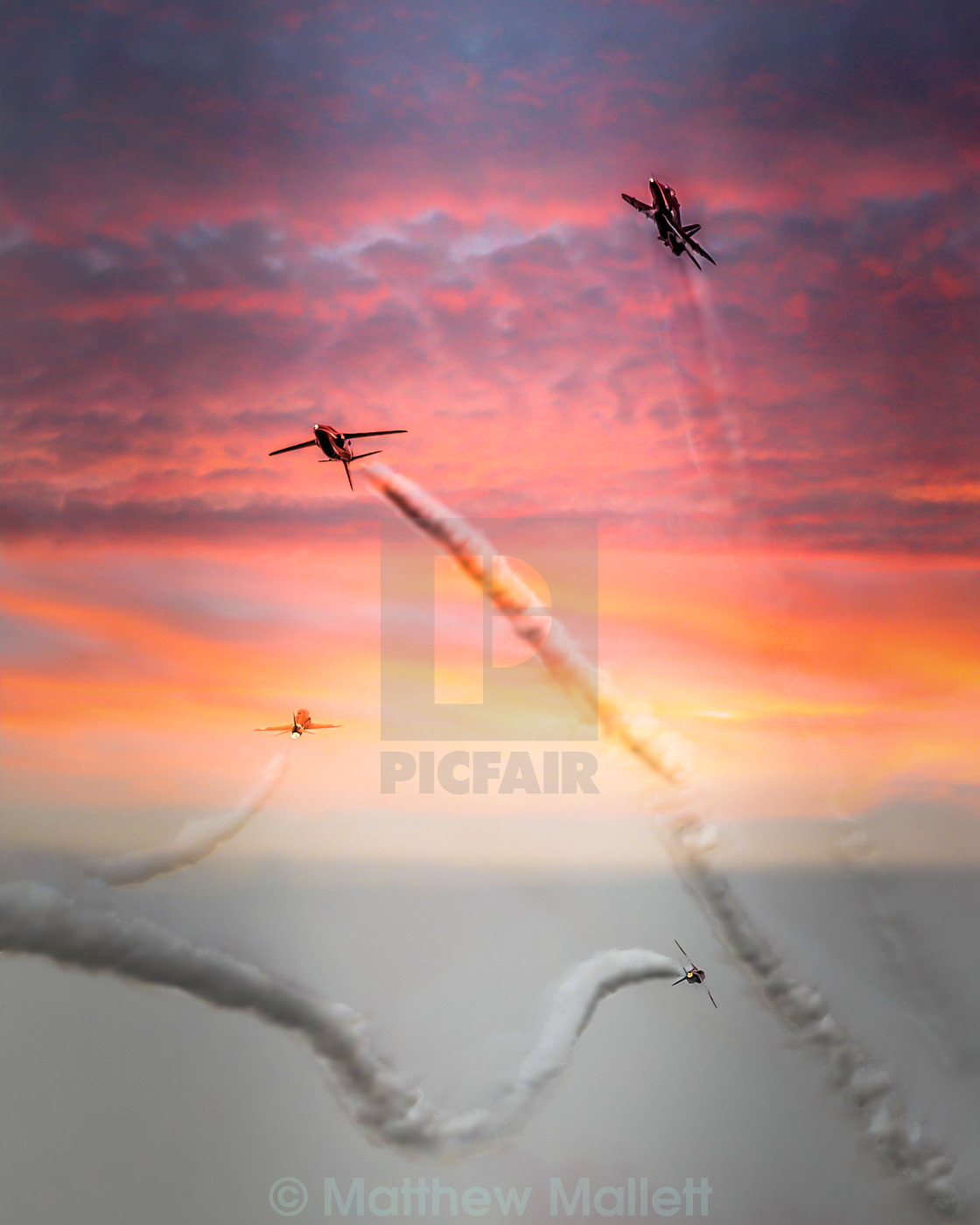"""Red Arrows Eye View"" stock image"