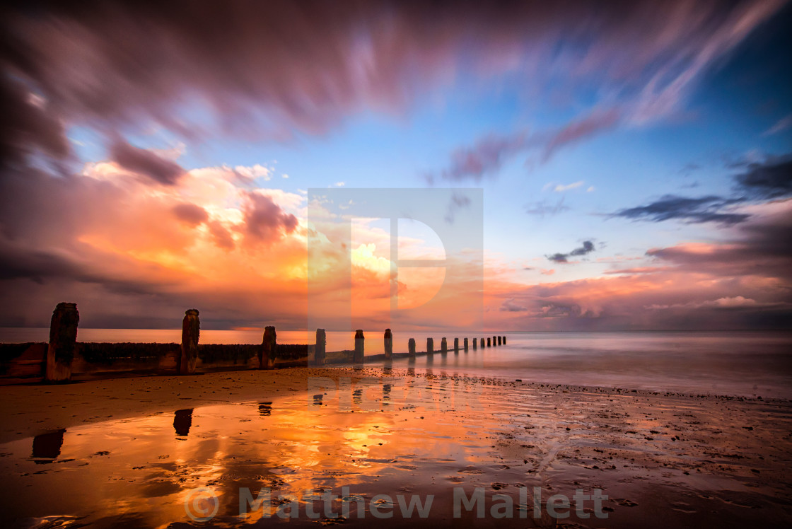 """Frinton on Sea - Weather Change"" stock image"