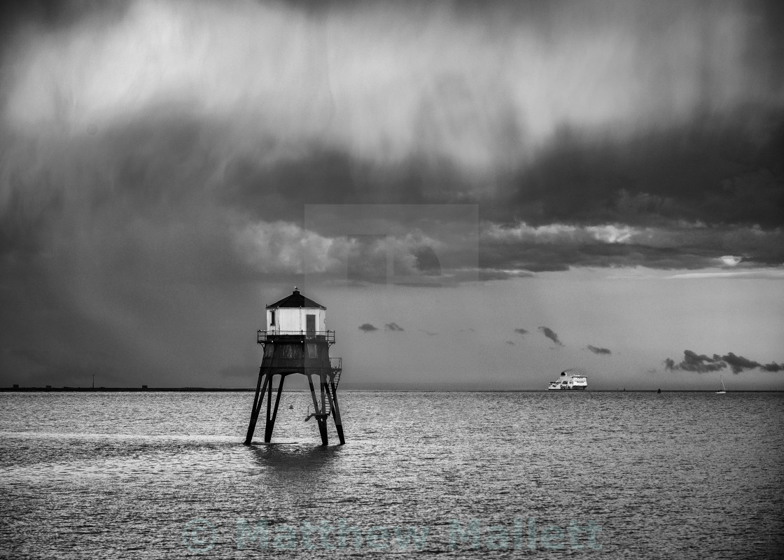 """Storm On Final Approach To Harwich"" stock image"