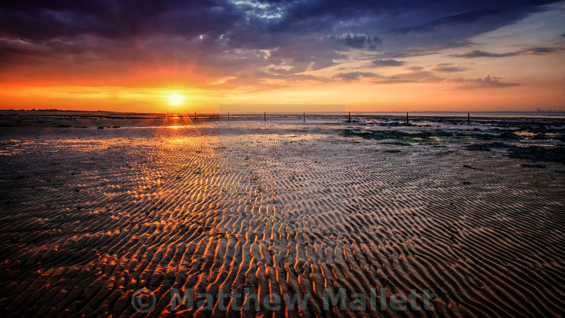 """Naze Sunset Beach"" stock image"