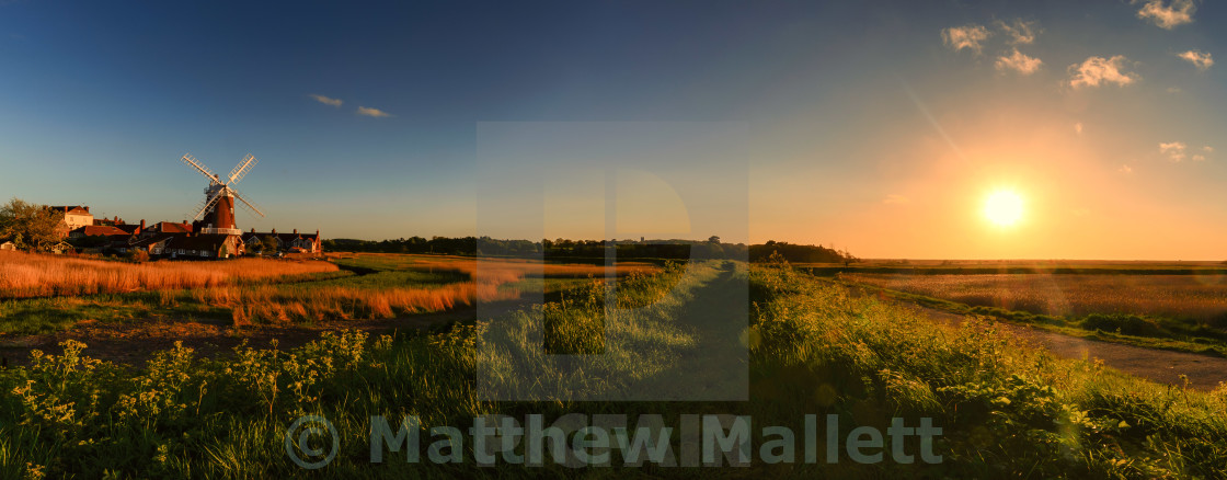 """Cley Windmill May Sunset"" stock image"