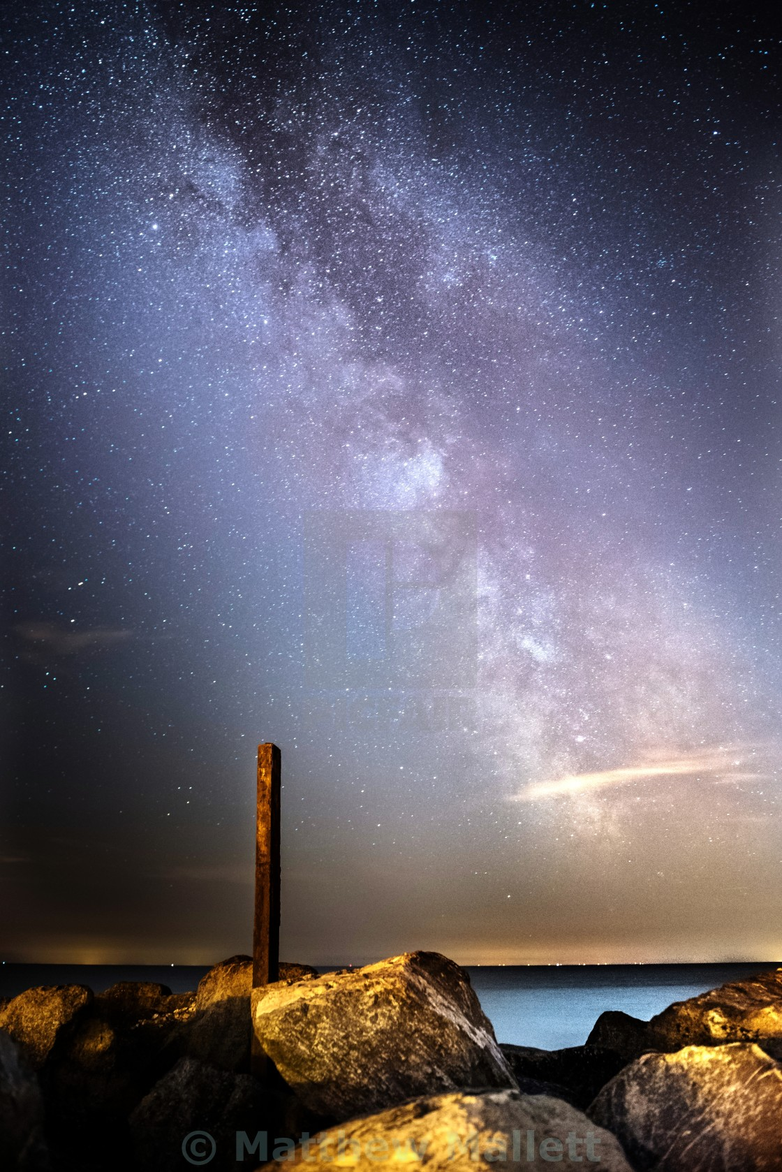 """Clacton 2016 Milky Way"" stock image"