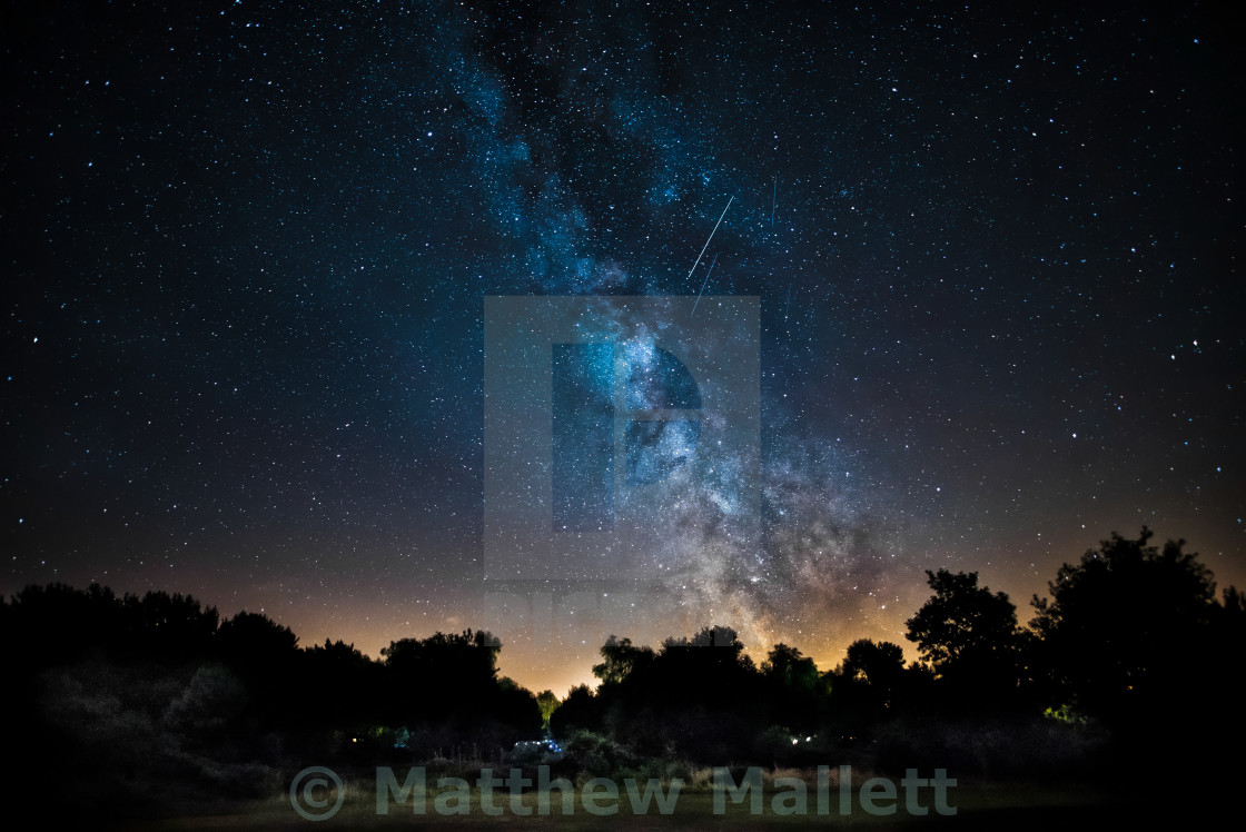 """Kelling Heath North Norfolk Milky Way"" stock image"