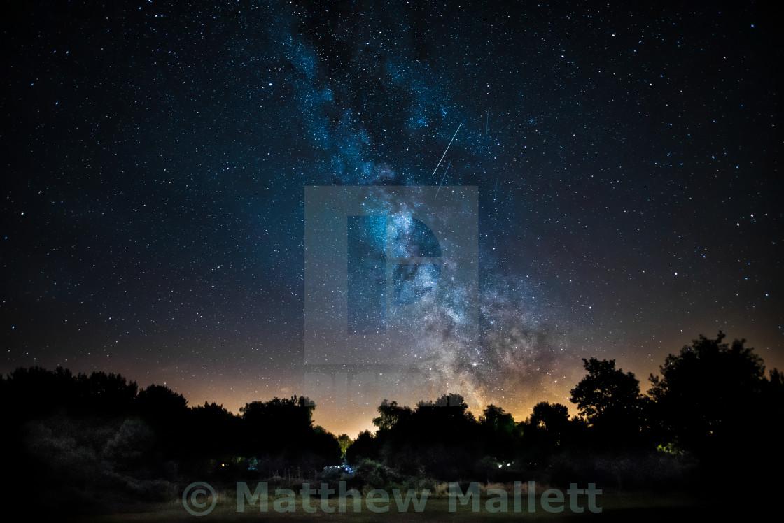 """Kelling Heath North Norfolk Milky Way"" stock image"
