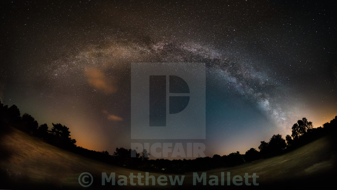 """Arch Of Milky Way Kelling Heath"" stock image"