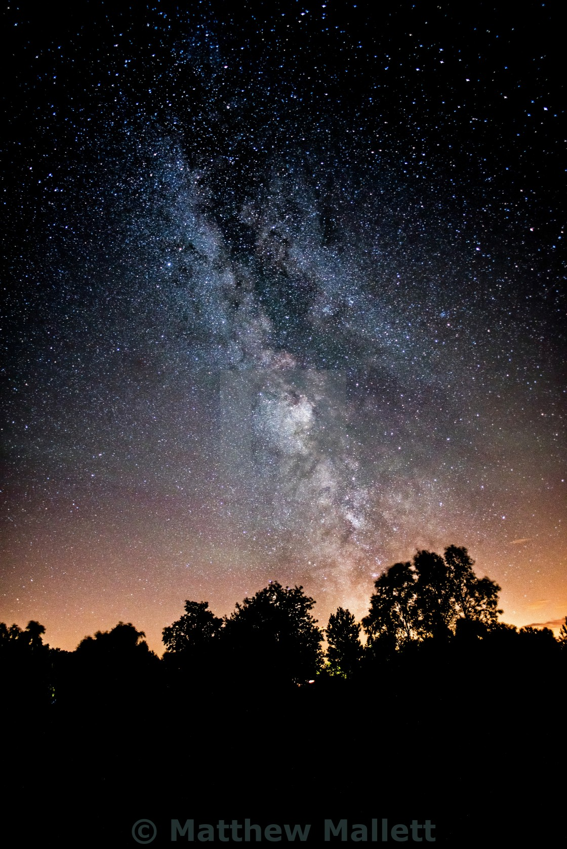 """Milky Way Light Show"" stock image"