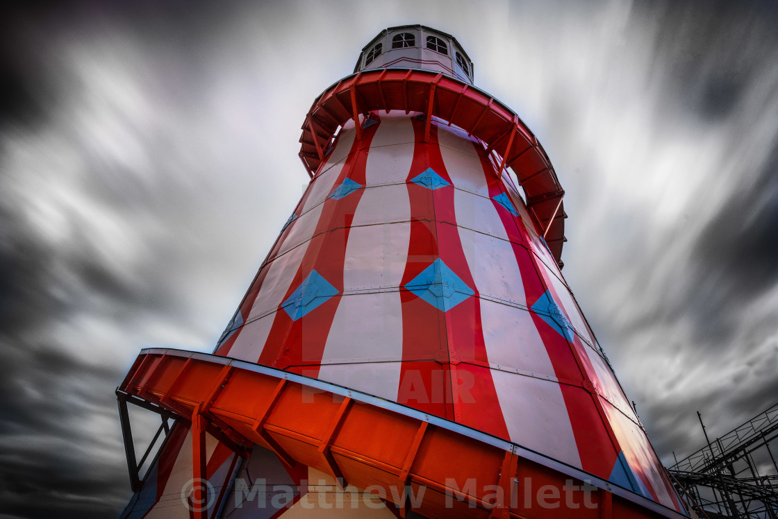 """Clacton On Sea Helter Skelter"" stock image"