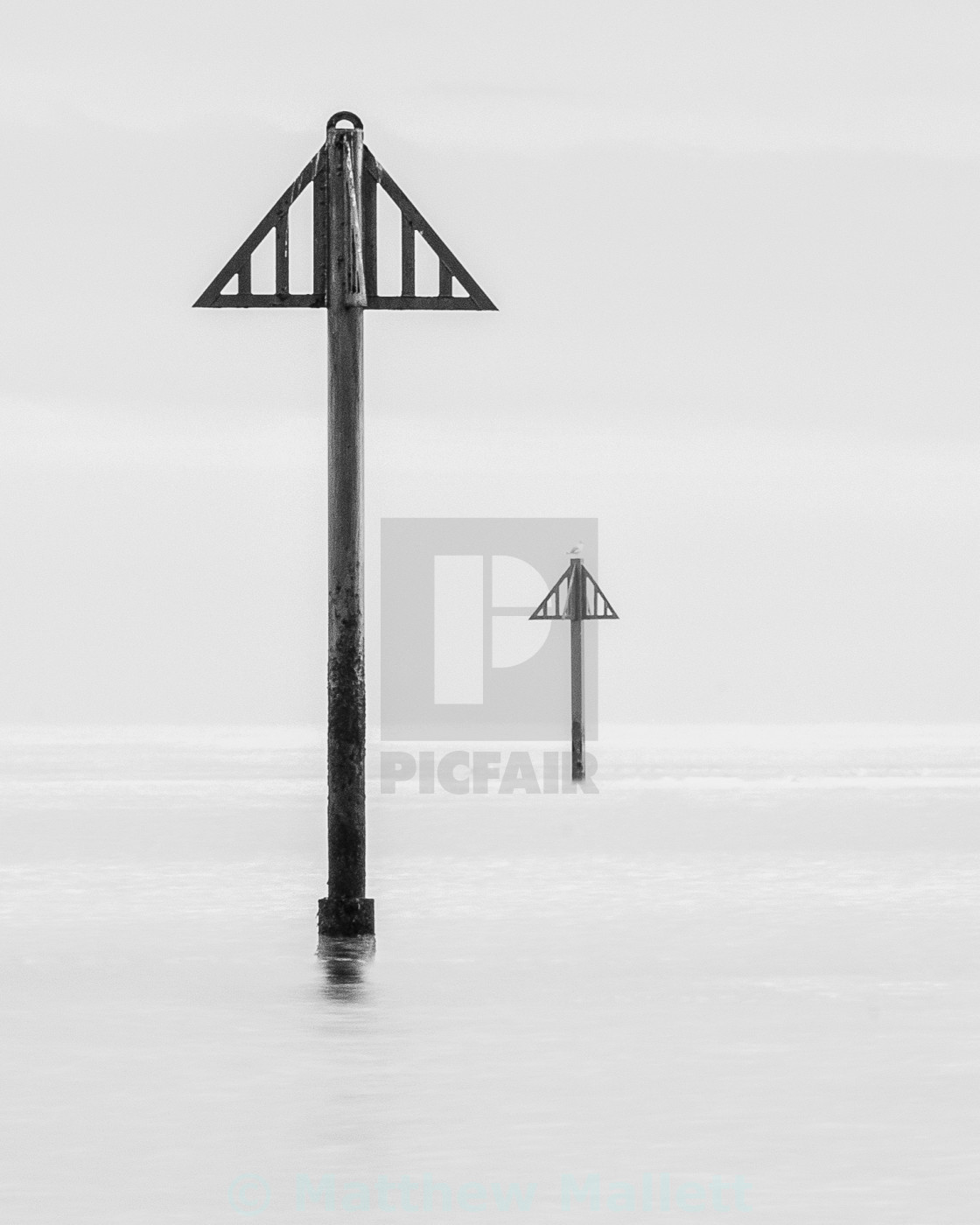 """Simply Seaside Markers and seagull"" stock image"