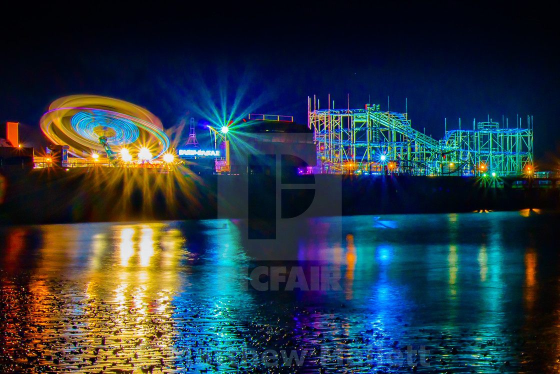 """Clacton Pier Fun And Colour"" stock image"