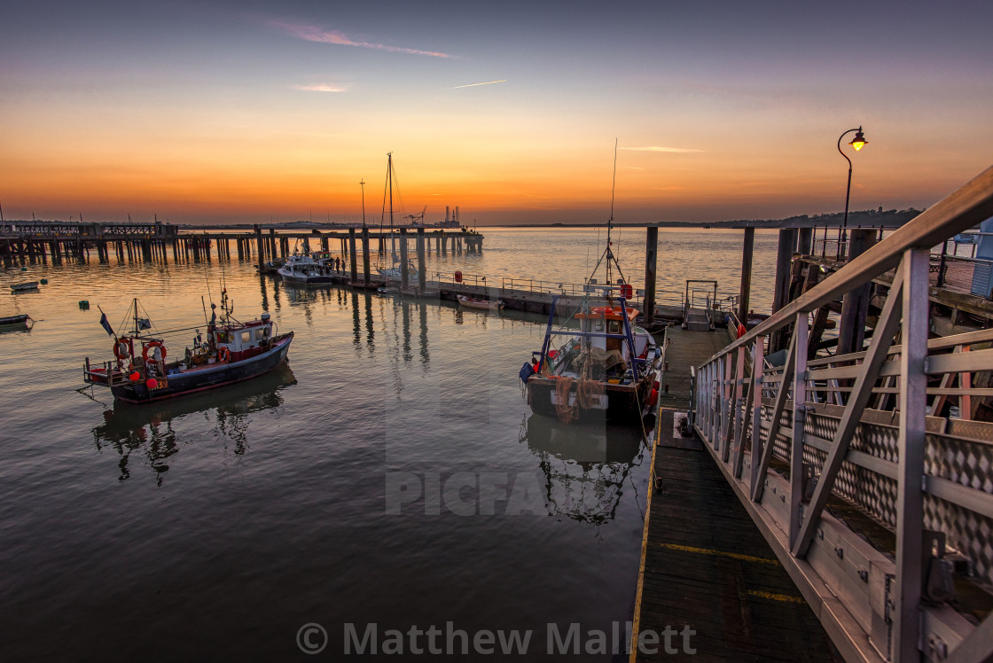"""Old Harwich at Twilight"" stock image"