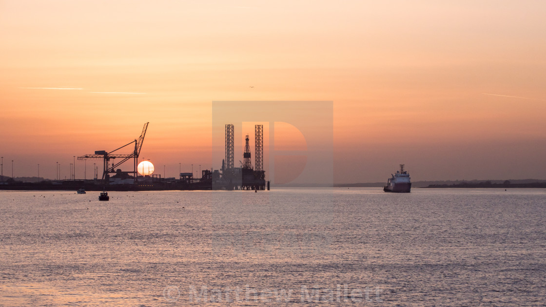 """Setting Sail From Harwich International"" stock image"