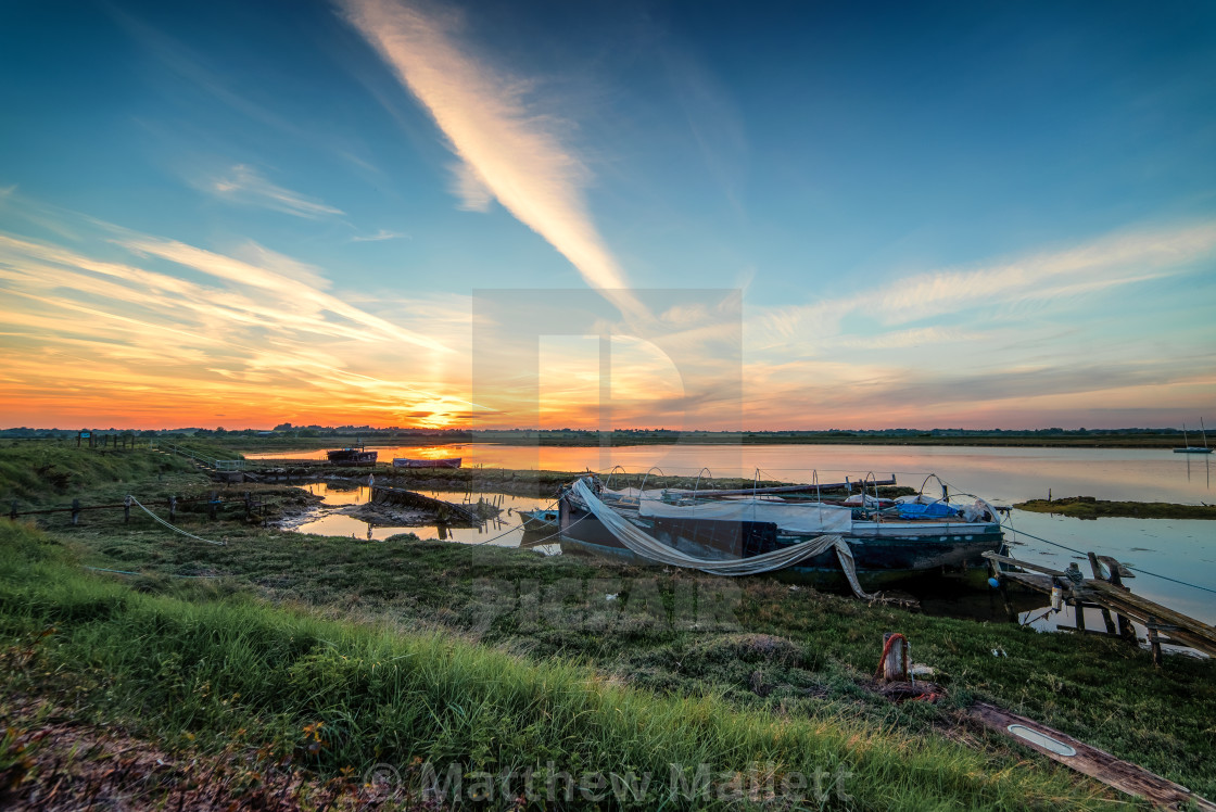 """May Sunset On The Backwaters"" stock image"