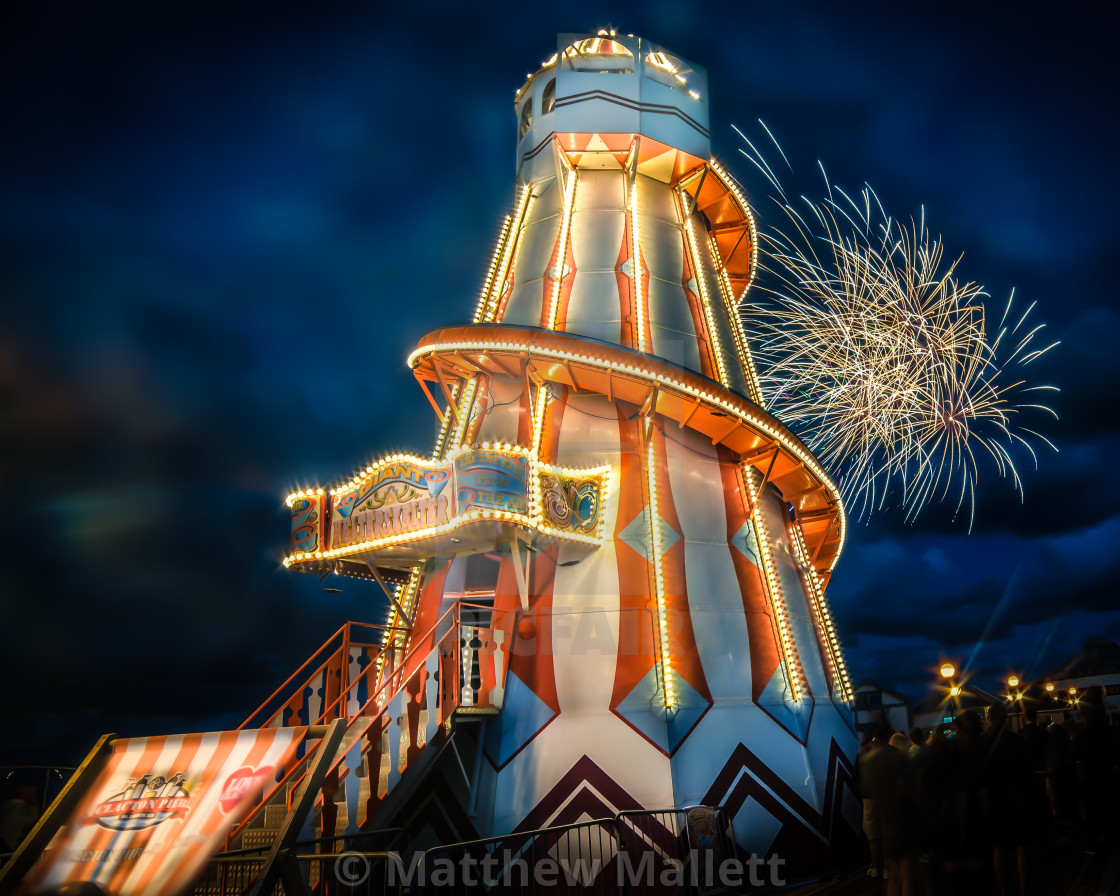 """134th Birthday Fireworks Clacton Pier"" stock image"