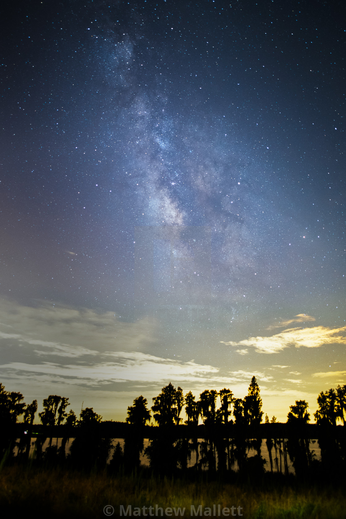 """Milky Way Over Lake Dixie Florida"" stock image"