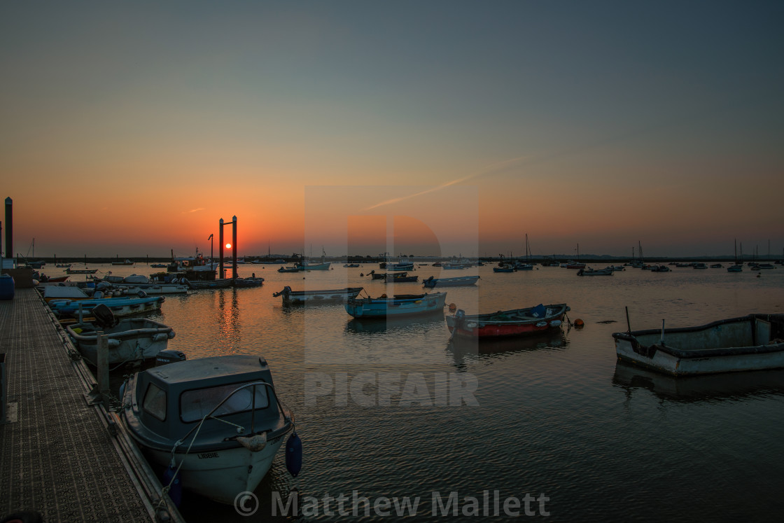 """Sunset Off West Mersea Island"" stock image"