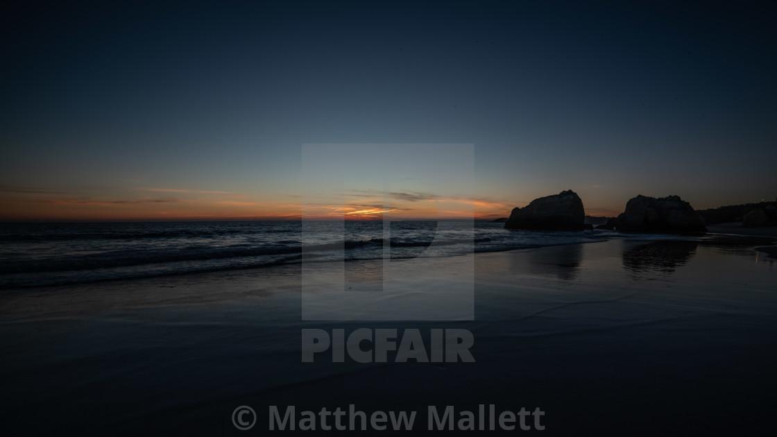 """Last Light Praia Da Rocha Beach"" stock image"