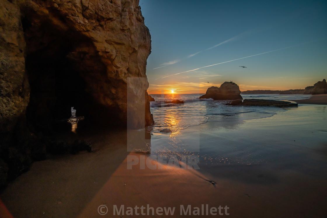 """Praia Da Rocha Sunset View"" stock image"